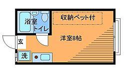東京都調布市下石原2丁目の賃貸アパートの間取り