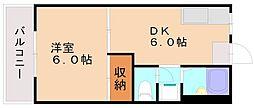 福岡県福岡市南区塩原3丁目の賃貸アパートの間取り
