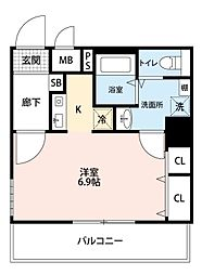 ダイドーメゾン・大阪堂島[7階]の間取り