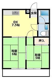 愛知県豊田市緑ケ丘7丁目の賃貸マンションの間取り