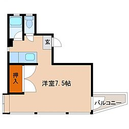 エレメント大橋[207号室号室]の間取り