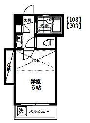 メゾンケヤキ[1階]の間取り