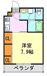 千葉県千葉市中央区亥鼻3丁目の賃貸マンションの間取り