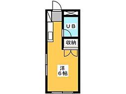 ホワイトウィング片倉Ⅱ[2階]の間取り