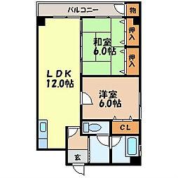 長崎県諫早市福田町の賃貸マンションの間取り