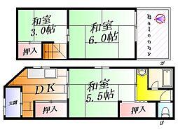 [テラスハウス] 大阪府吹田市南正雀2丁目 の賃貸【/】の間取り