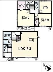 [一戸建] 愛知県安城市篠目町4丁目 の賃貸【/】の間取り