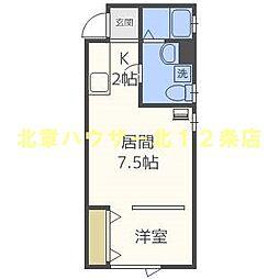 S−STUDIO (エススタジオ) 1階1LDKの間取り
