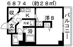 グランドノーブル[203号室号室]の間取り
