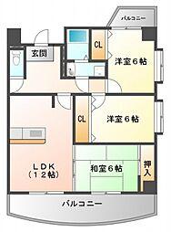 カルム千昇[5階]の間取り