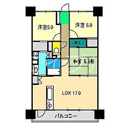 サーパス高須東弐番館[2階]の間取り