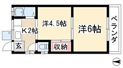 愛知県長久手市岩作高山の賃貸アパートの間取り