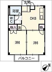 メゾンエトワール A棟[2階]の間取り
