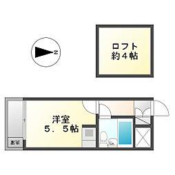 芙蓉ハイツ[1階]の間取り
