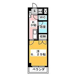 グラン・コンフォール三田[403号室]の間取り