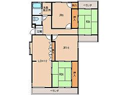 第2みどり館[1階]の間取り