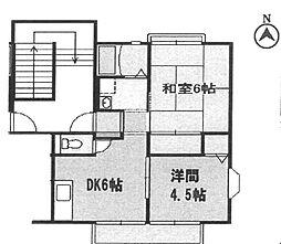 ドエル・ヒロ武庫之荘[B201号室]の間取り