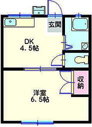 メゾン村松[2階]の間取り