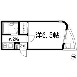 アパートメントロミオ[402号室]の間取り