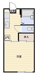 ビーフリーA棟[2階]の間取り
