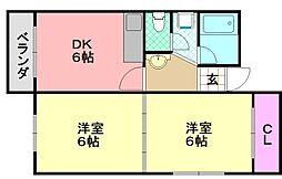 パルミッツオ平野西I[302号室]の間取り