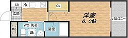 東小橋II番館[6階]の間取り