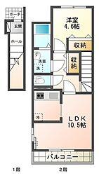 Villa Belltree II[202号室号室]の間取り