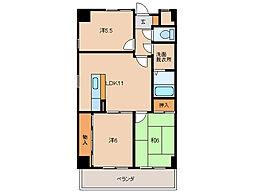 千代グランドマンション[2階]の間取り