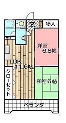 ベルガ三萩野[503号室]の間取り
