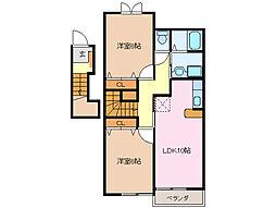 アンジェリックA・B棟[2階]の間取り