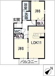 ルーチェ・2001[2階]の間取り