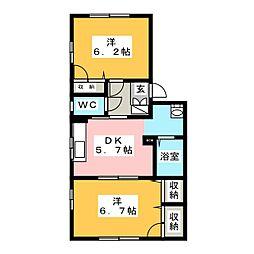 フォーレスシャンテA[1階]の間取り