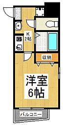 MIDORI[3階]の間取り