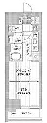 都営新宿線 菊川駅 徒歩11分の賃貸マンション 13階1DKの間取り