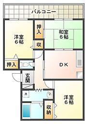メゾン桃山台[1階]の間取り