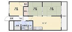 セブンハイツ[2階]の間取り