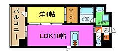 グランドューエ永和駅前[6階]の間取り