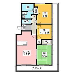第2レジデンスISHII[1階]の間取り
