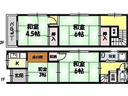 成育3丁目貸家 1階4Kの間取り