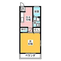コーポ藤 C[1階]の間取り
