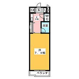 ソレーユI[1階]の間取り