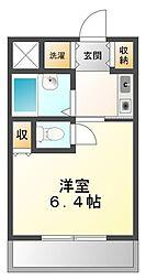ジョイフル武庫川[2階]の間取り
