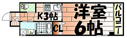 ピノ到津[7階]の間取り