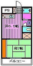 インフォートマンション[408号室]の間取り