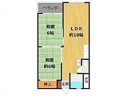 甲子園第8コーポラス A棟[6階]の間取り
