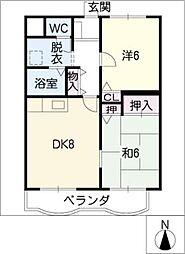 コーエーマンション[2階]の間取り
