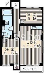 7569−泉脇マンション[2階]の間取り