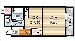 スペースウイング[3階]の間取り