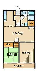 旭町マンション[3階]の間取り