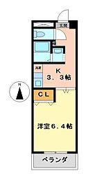 キャッスル若宮[5階]の間取り